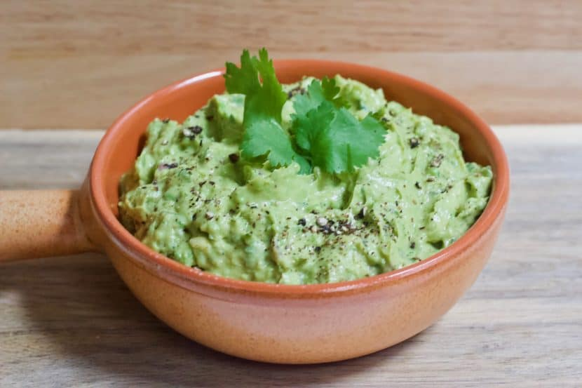 Mom's Homemade Guac with Hidden Veggies | Healthy Helper Healthy, homemade guacamole with added vegetables for more fiber and less fat! Vegan, gluten-free, and full of flavor, this guacamole will be your new go-to savory snack when a craving strikes.