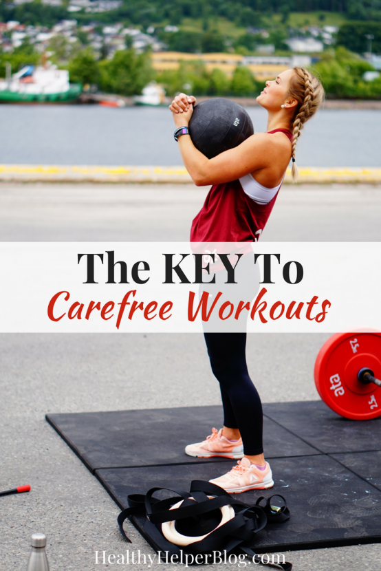 The KEY To Carefree Workouts | Healthy Helper Bored with your workout routine? Looking to change things up? Tired of feeling guilty for your lack of motivation? This post will help you unlock the KEY to carefree fitness! Get back to doing what you love and actually ENJOYING exercise again.