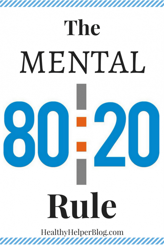 The Mental 80/20 Rule   Healthy Helper @Healthy_Helper A discussion on emotions, disposition, and really letting yourself feel your authentic feelings. It's impossible to be happy and positive 100% of the time and we shouldn't force ourselves to fake it if it's not truly how we're feeling.
