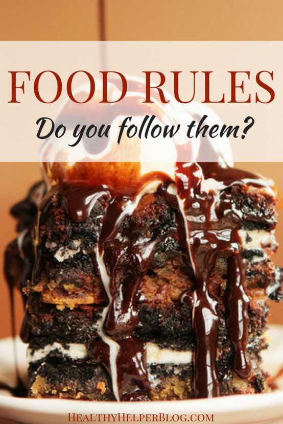 Food Rules: Do You Follow Them? | Healthy Helper @Healthy_Helper A discussion on 'rules' surrounding our diets and the food we consume everyday. Do they have a place in our lives?