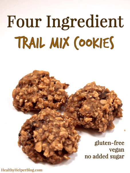 Four Ingredient Trail Mix Cookies