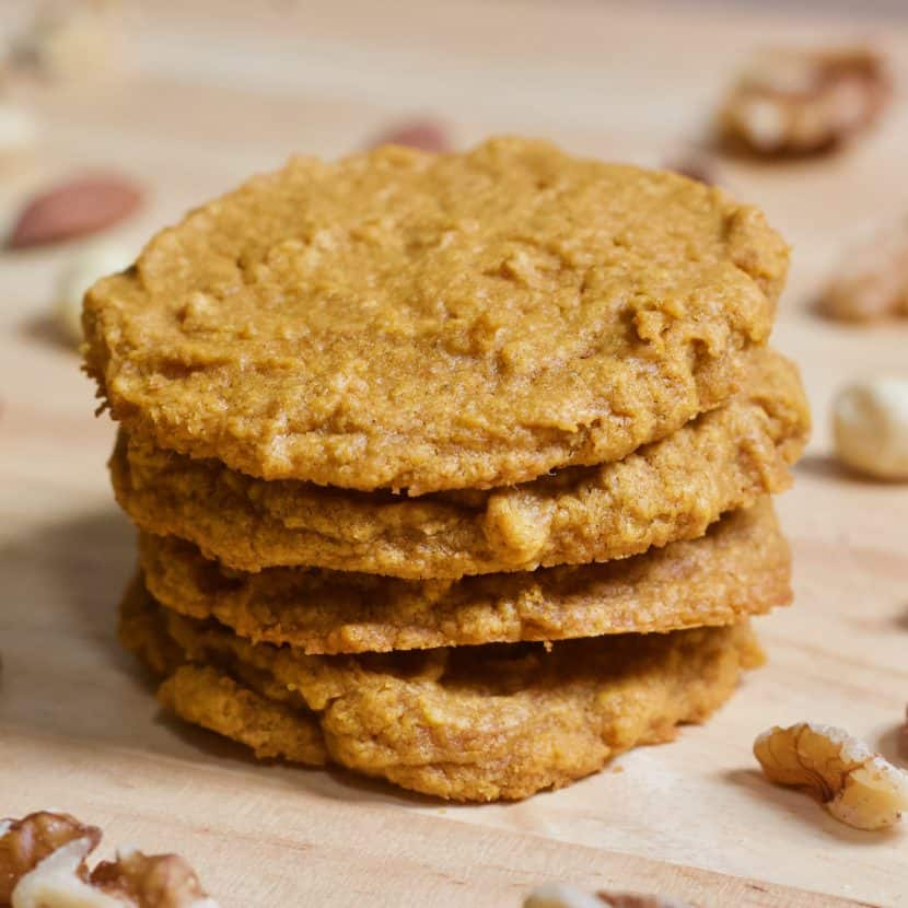 3 Ingredient KETO Pumpkin Cookies | Healthy Helper Whether it's pumpkin season or not, these three ingredient cookies are too good to pass up! Rich and buttery tasting while gluten-free, vegan, and KETO. They don't get any easier to make and the small-batch quantity allows you to whip some up whenever a craving strikes!