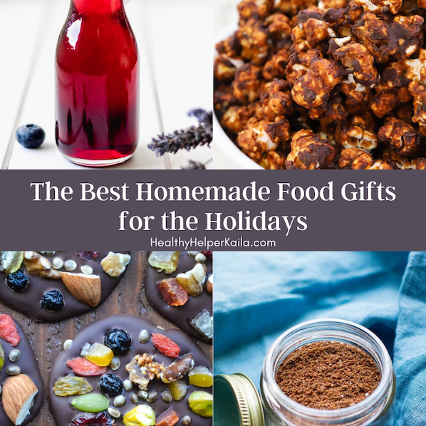 The Best Homemade Food Gifts for the Holidays | A roundup of the tastiest and healthiest DIY food gifts that your family & friends will love to receive this holiday season! From sweet treats to savory eats, you'll wow your loved ones with homemade, unique food gifts from the heart.
