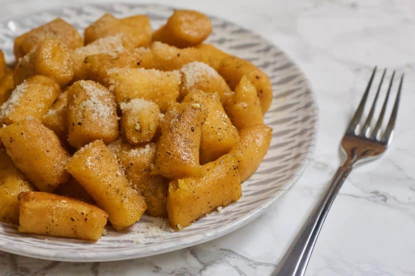 2-Ingredient Butternut Squash Gnocchi | Soft, pillowy butternut squash pasta bites with only 2 ingredients and made from scratch! This squash-based version of classic potato gnocchi is gluten-free, egg-free, and totally vegan. Just boil water and cook for a few minutes to indulge in a dish of pasta perfection! Top with your favorite sauce or seasonings for comforting, healthy meal any time you want.