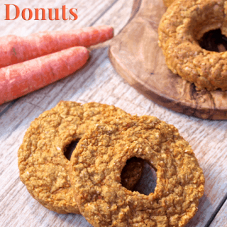 Carrot Cake Donuts...soft, cake-like donuts that are gluten-free, high protein, and made with whole grain goodness! No added sugar and bursting with fresh carrot flavor! A sweet treat or snack you can feel good about eating from Healthy Helper Blog. [nut-free, healthy, recipe, healthy snack, donuts, carrot cake, national carrot cake day, low calorie, dessert]