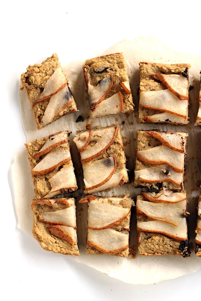 dark-chocolate-pear-blondies-vegan