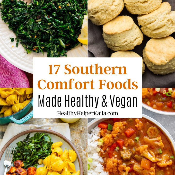 17 Southern Comfort Foods Made Healthy and Vegan | A roundup of delicious Southern staples that will satisfy all your cravings without any of the high fat and high calorie counts of the classics! All healthy and vegan.