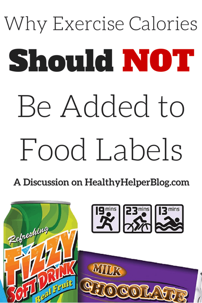 Why Exercise Should NOT Be Added to Food Labels: A Discussion on Healthy Helper Blog https://healthyhelperkaila.com?utm_source=utm_source%3DPinterest&utm_medium=utm_medium%3Dsocialmedia&utm_campaign=utm_campaign%3Dblogpost
