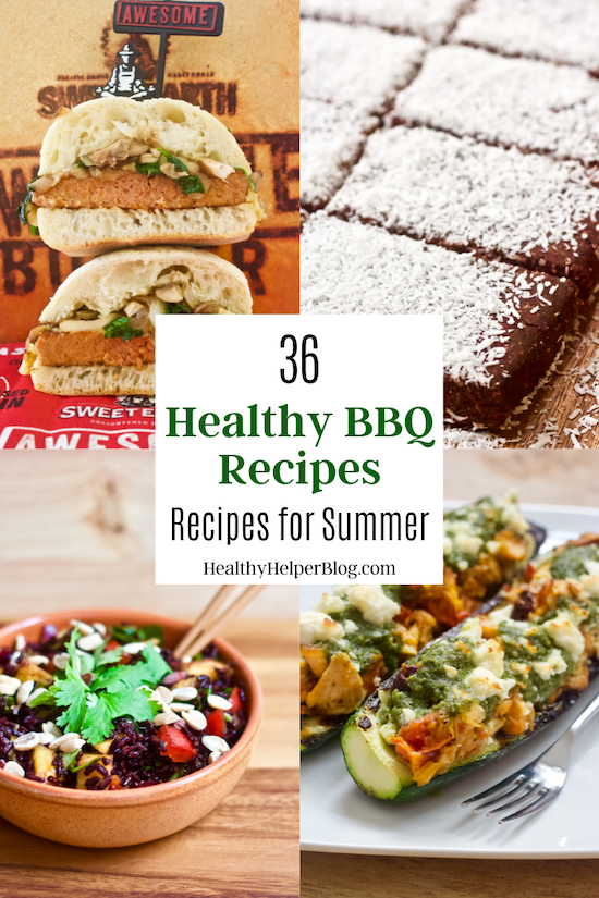 36 Healthy BBQ Recipes for Summer | A delicious Healthy Summer BBQ roundup of all your favorite seasonal foods made light and healthier with a just a few simple ingredient swaps! Perfect for planning your next BBQ or family potluck.