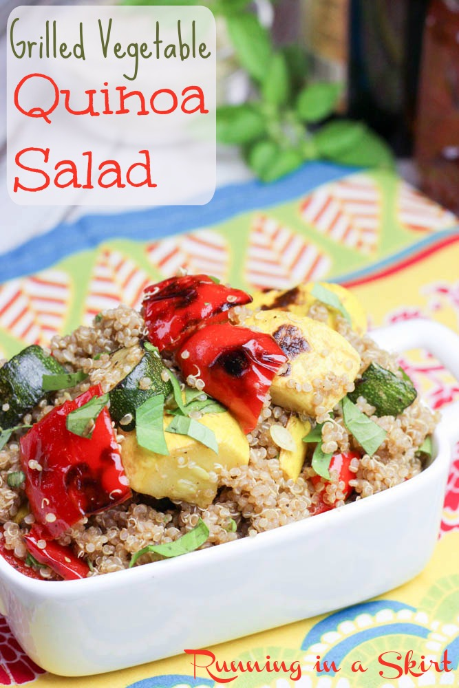 grilled vegetable quinoa salad pin