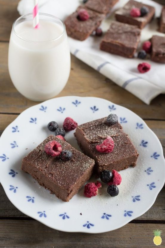 Easy Blender Black Bean Brownies