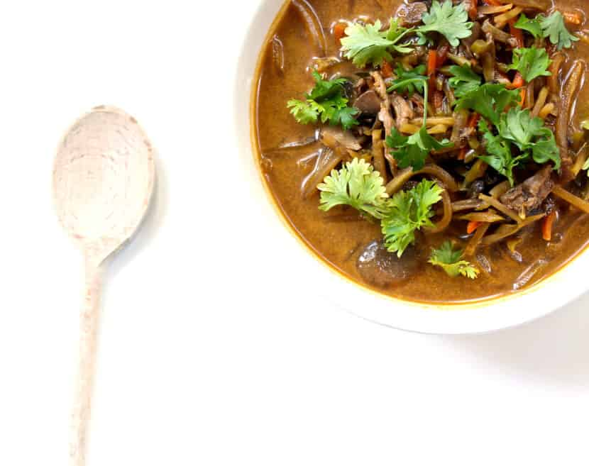 7-Ingredient Coconut Curry Seafood Soup
