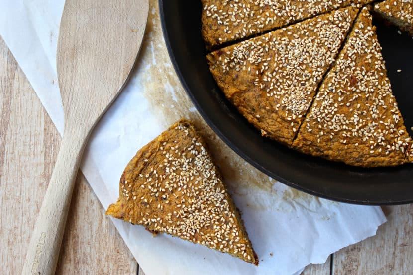 Savory Sweet Potato Pan Bread with Sun-Dried Tomatoes