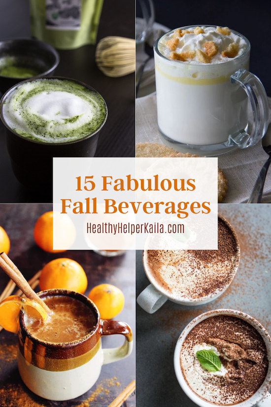 15 Fabulous Fall Beverages | A roundup of fabulous fall drinks that will warm your soul and your stomach! Delicious, healthy beverages that feature all the wonderful flavors of the season. Drink to your heart's content with these wonderful season sips!