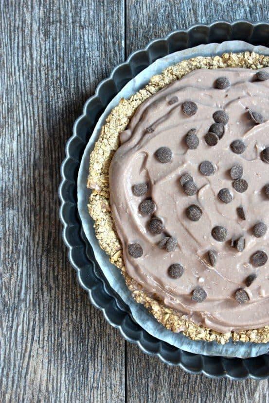Low-Fat Vegan Pudding Pie Tart | Healthy Helper @Healthy_Helper