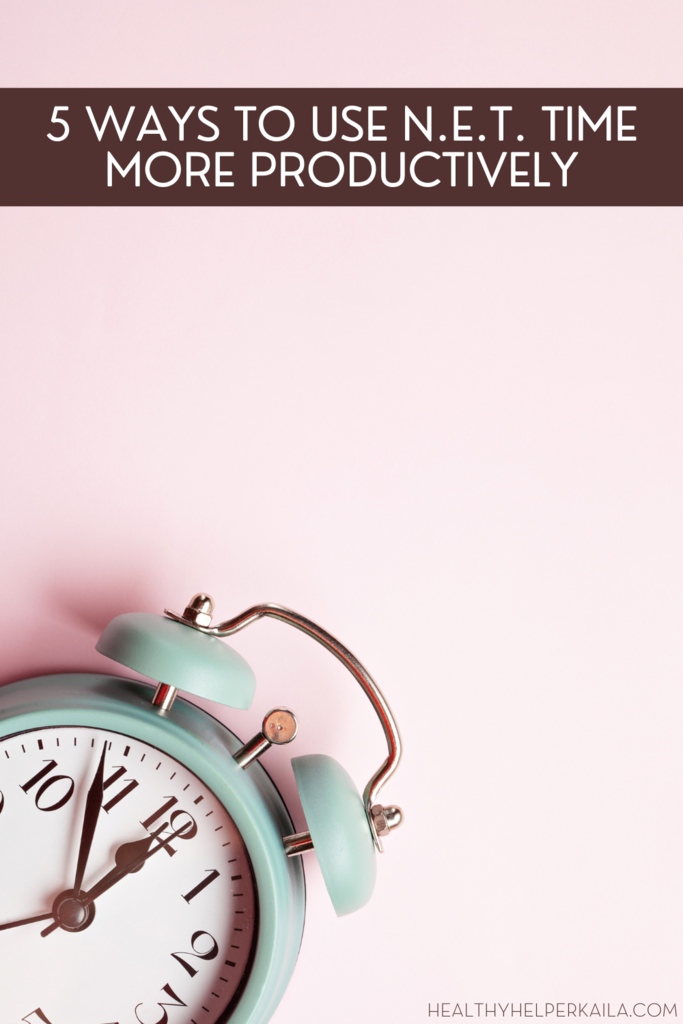 5 Ways to Use NET Time More Productively |  Ever feel like you have no extra time to get things done in your busy day? Well, consider all those 'in-between' moments when you're standing in line or waiting in traffic. This post will help your optimize and maximize the way you use your N.E.T. time for ultimate productivity!