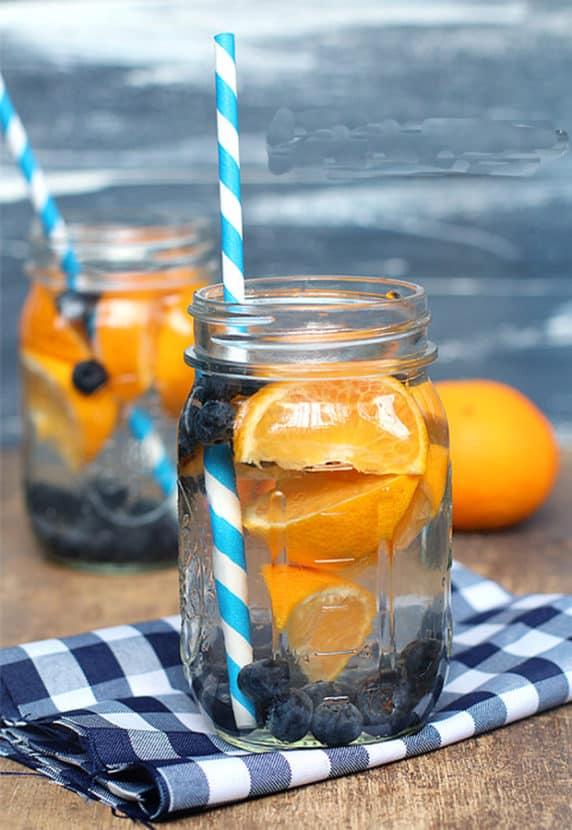 Blueberry Orange Water | Healthy Helper @Healthy_Helper