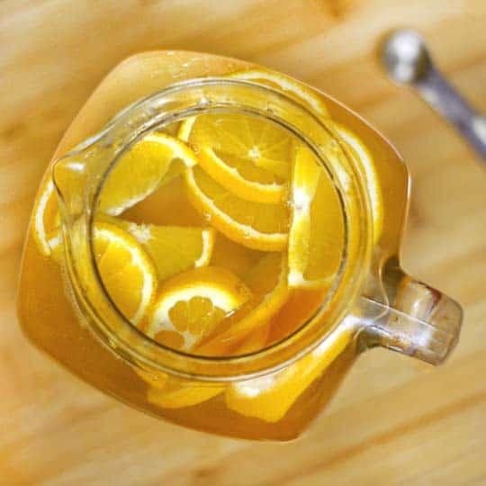 Orange Vanilla Infused Water | Healthy Helper @Healthy_Helper