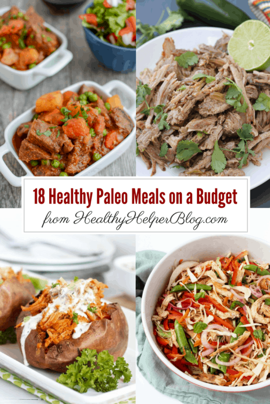 18 Paleo Meals on a Budget   Healthy Helper @Healthy_Helper Your ultimate guide for paleo meal planning on a budget. 18 of the tastiest, healthiest paleo-friendly dishes you can make for your family without breaking the bank!