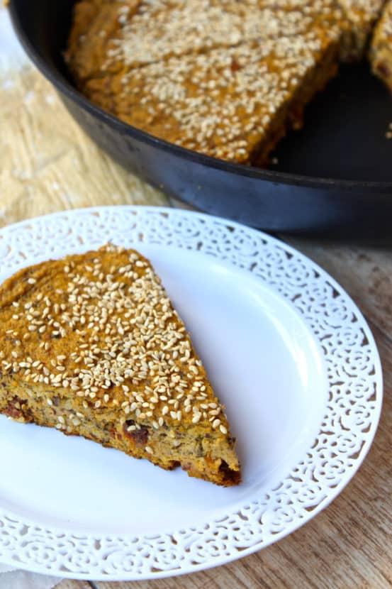 Savory Sweet Potato Pan Bread  | Healthy Helper @Healthy_Helper