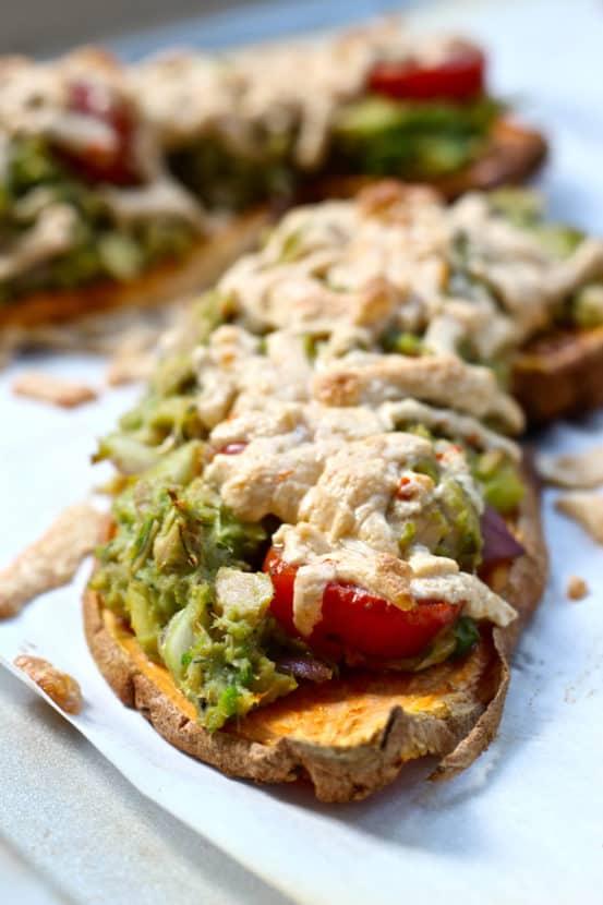 Paleo Tuna Melts on Sweet Potato Toast | Healthy Helper @Healthy_Helper