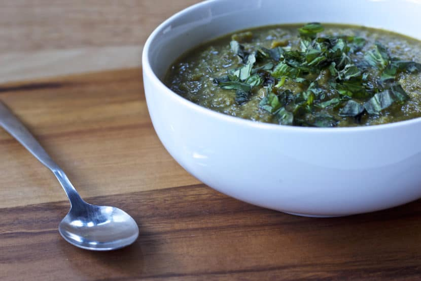HCLF Vegan Cream of Broccoli Soup   Healthy Helper @Healthy_Helper A delicious, dairy-free version of your favorite creamy soup! This Vegan Cream of Broccoli Soup is full of vibrant veggies, jam-packed with flavor, and so rich and satisfying despite its healthy, light ingredients. Gluten-free, oil-free, and nut-free, too!