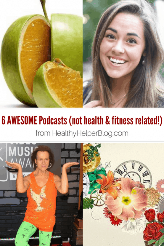 6 Awesome Podcasts (that have nothing to do with health and fitness)   Healthy Helper @Healthy_Helper A roundup of 6 awesome podcasts outside the realm of health and fitness! For when you feel like listening to something that DOESN'T have a focus on healthy living and wellness. Sometimes, we could all use a break!