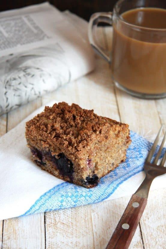 Blueberry Coffee Cake | Healthy Helper @Healthy_Helper