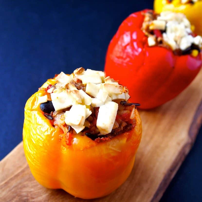 5 Ingredient Vegan Stuffed Peppers   Healthy Helper @Healthy_Helper