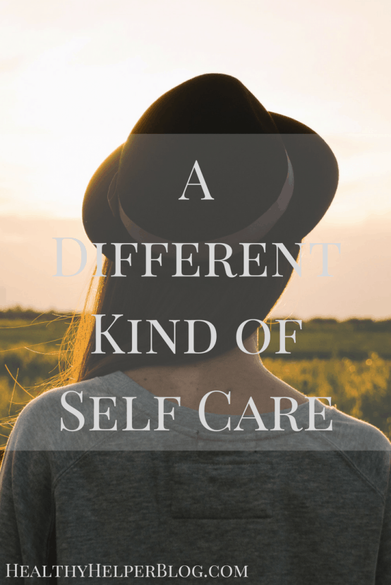 A Different Kind of Self Care | Healthy Helper @Healthy_Helper Self care doesn't always mean doing something for your present-self. It can mean doing something your future-self will thank you for.