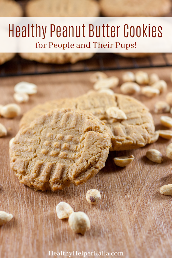 Healthy Vegan Peanut Butter Cookies | Treat your pup (and yourself!) to these soft-baked Peanut Butter Cookie treats! Made with whole food ingredients, these cookies are vegan, gluten-free, and sweetened with dates. Sweet, delicious, and FULL of peanut butter flavor.