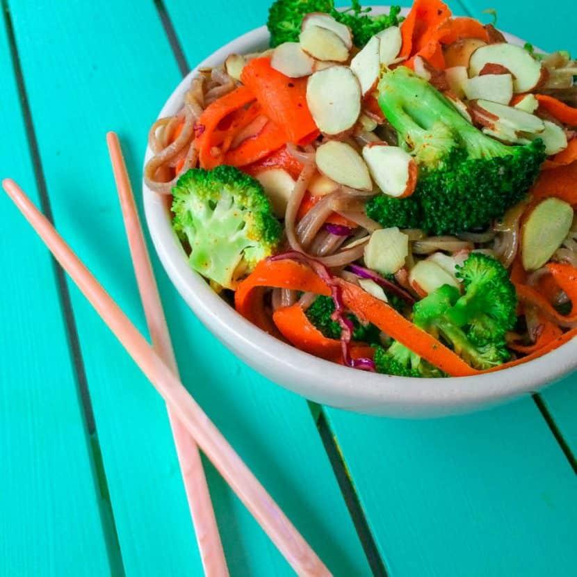 Almond Butter Soba Noodle Salad
