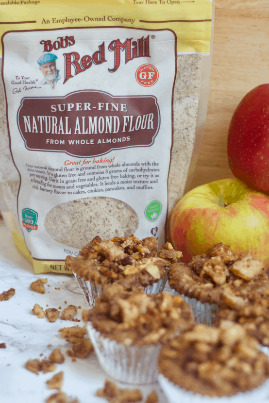 Paleo Apple Crisp Muffins   Healthy Helper @Healthy_Helper Your favorite fall dessert in muffin form! These Paleo Apple Crisp Muffins are the perfect snack for celebrating apple season with. Sweet, subtly spiced, and covered with that classic crumb topping you've come to know and love! Vegan, gluten-free, grain-free, and sure to please the whole family!