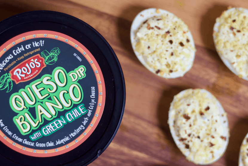 Southwestern Queso Blanco Deviled Eggs   Healthy Helper @Healthy_Helper Classic deviled eggs made cheesy and creamy with delicious Queso Blanco! These gluten-free, high protein appetizers are FULL of zesty southwestern flavor and are incredibly easy to make. Perfect for your next holiday party or get-together!