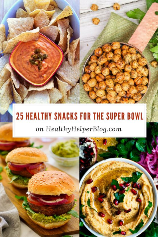 25 Healthy Snacks for the Super Bowl | Healthy Helper @Healthy_Helper A roundup of healthy yet delicious appetizers and snacks to serve your friends on family on GAME DAY! All the flavor of your favorites, but with real food, clean eating ingredients.