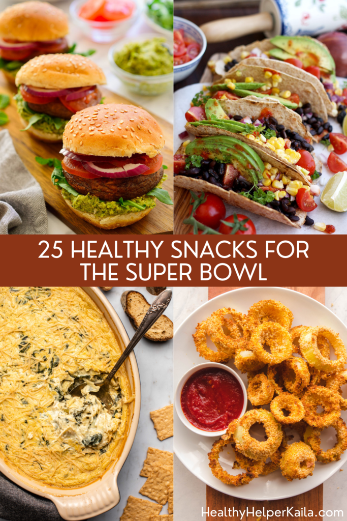 25 Healthy Snacks for the Super Bowl | A roundup of healthy yet delicious appetizers and snacks to serve your friends on family on GAME DAY! All the flavor of your favorites, but with real food, clean eating ingredients.