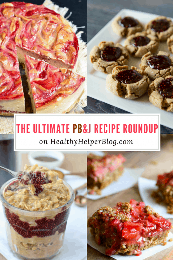 The ULTIMATE PB&J Recipe Roundup | Healthy Helper @Healthy_Helper A roundup of the BEST PB&J inspired recipes from around the web! Think outside the box when it comes to this classic combo and get ready to reinvent the way you think about this lunchbox staple.