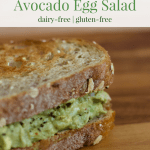 Avocado Egg Salad   Healthy Helper @Healthy_Helper Creamy, savory egg salad with the rich taste of avocado! Dairy-free, gluten-free, and full of healthy fats & protein. The perfect make ahead meal or snack to have all week-long!