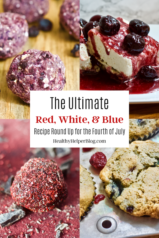 The Ultimate Red, White, and Blue Recipe Round Up for the Fourth of July | The ultimate patriotic recipe roundup for the Fourth of July! Celebrate our nation with this list of red, white, and blue recipes from around the web. All healthy, delicious, and incredibly festive!