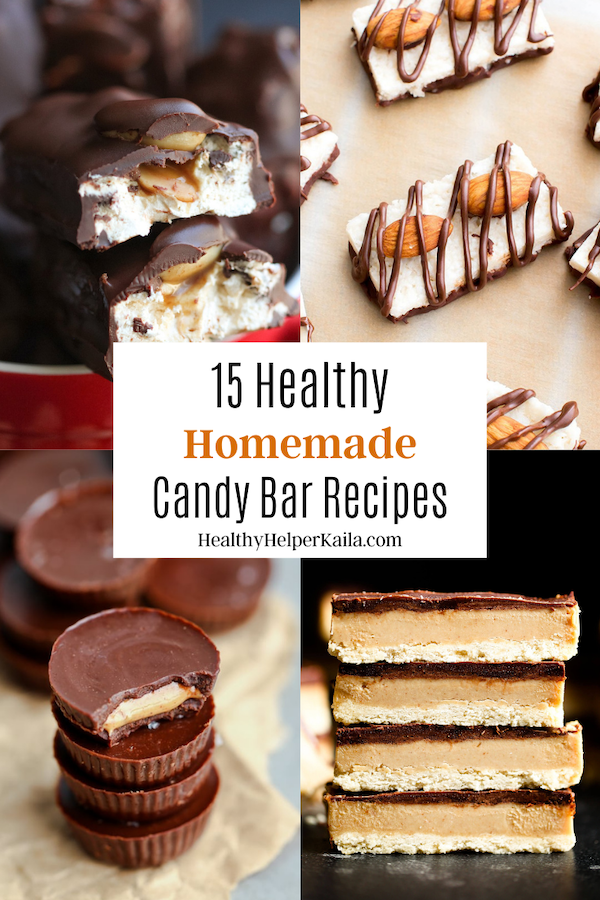 15 Healthy Homemade Candy Bars | All your favorite candy bars gone HOMEMADE. Healthy, easy to make treats just in time for Halloween!
