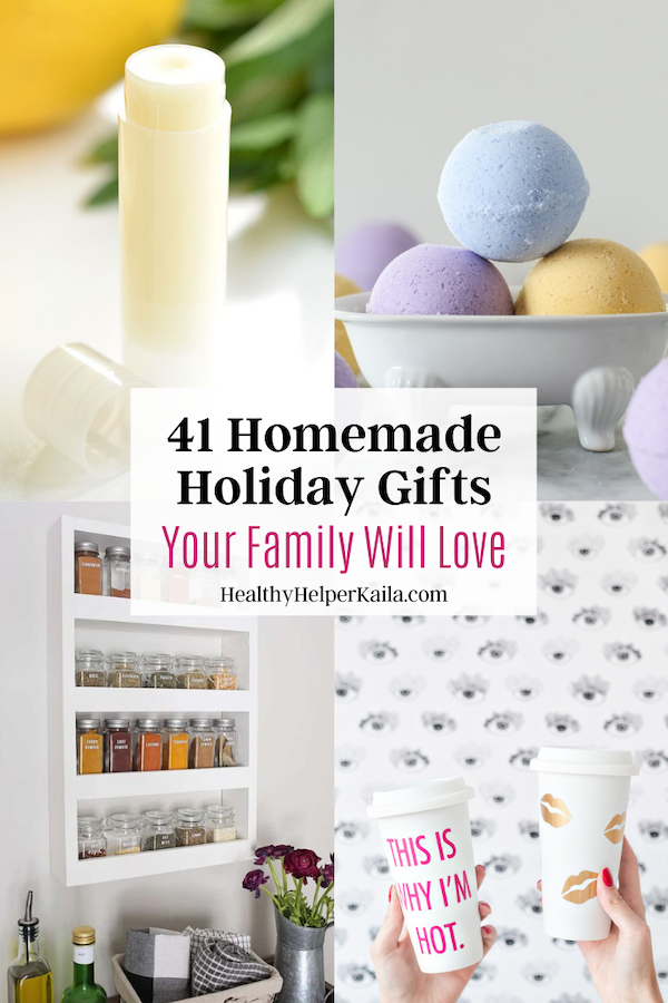 41 Homemade Holiday Gifts Your Family Will Love | A roundup of homemade, DIY gifts that your friends and family will love to receive for the holidays this year!