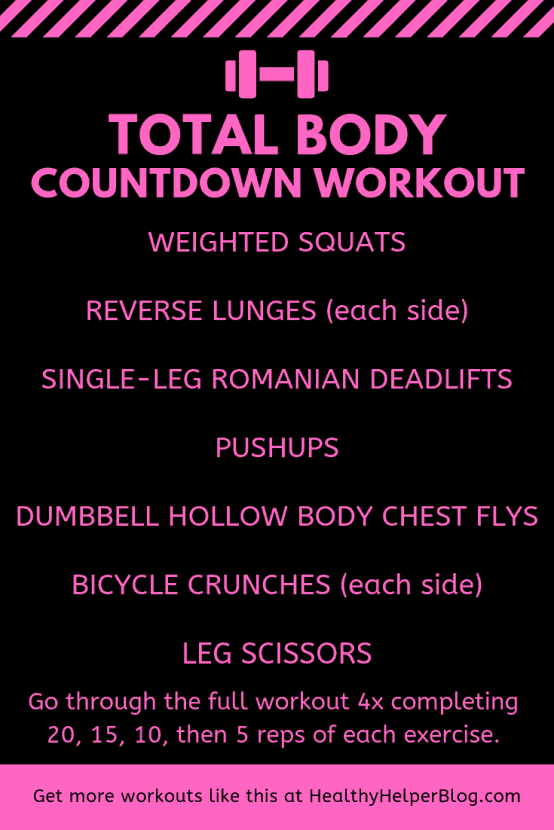 Total Body Countdown Workout | Healthy Helper
