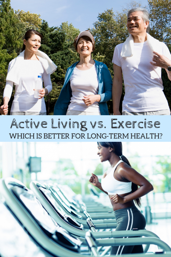 Active Living vs. Exercise: Which is Better for Long-Term Health? | Active living versus scheduled, routine exercise...which is optimal for longterm health and happiness? A discussion on whether you should strive for movement throughout the day or just stick with a scheduled workout.