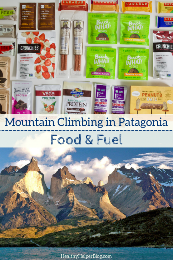 Mountain Climbing in Patagonia: FUEL | An inside look into what I am bringing with me to fuel my mountaineering trek in Patagonia! Healthy, portable food that will provide all the nutrients I need to stay energized while climbing and hiking all day.