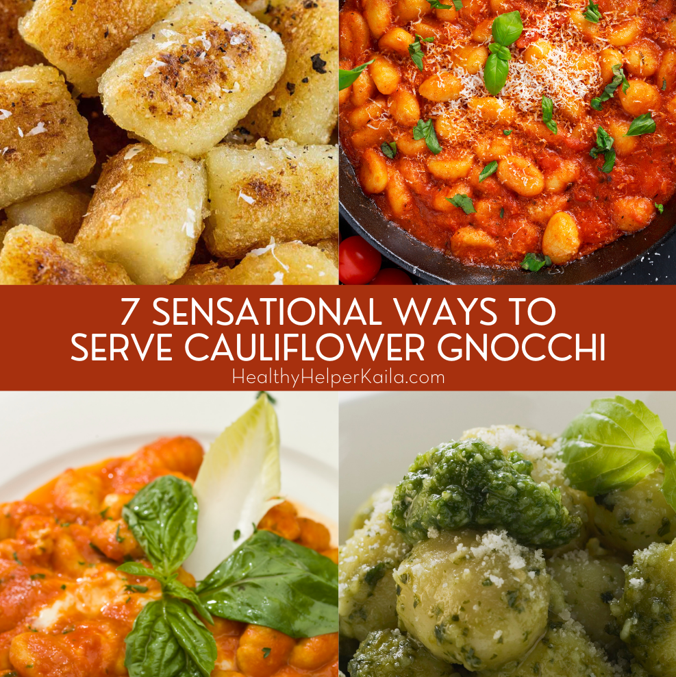 7 Sensational Ways to Serve Cauliflower Gnocchi | 7 unique, easy ways to prepare Trader Joe's cauliflower gnocchi and take it to the next level of deliciousness! Vegetarian, pescatarian, and meat options to satisfy everyone's needs. If you haven't tried cauliflower gnocchi, now you have ZERO excuses.
