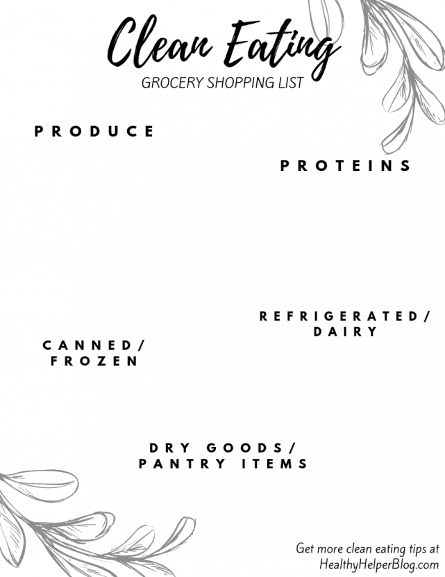 The ULTIMATE Clean Eating Grocery Shopping List | My go-to grocery shopping picks for healthy eating an overall healthy living. PLUS, a downloadable, printable template for you to make your own clean eating grocery list.