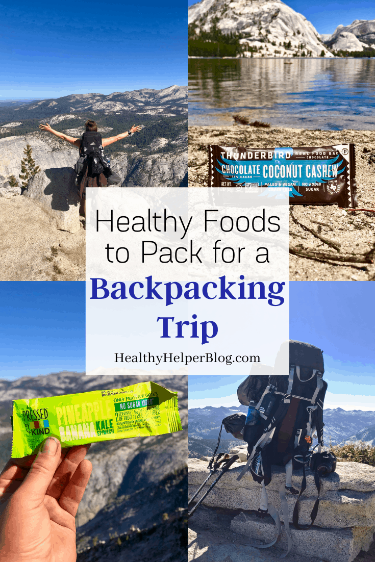 Healthy Foods to Pack for a Backpacking Trip | A roundup of my GO-TO picks for non-perishable, portable, healthy food products to pack with you on your next backpacking adventure. Natural products made with REAL food ingredients to give you all the nutrients you need to energized and satisfied while on the trail. Great for camping trips as well!