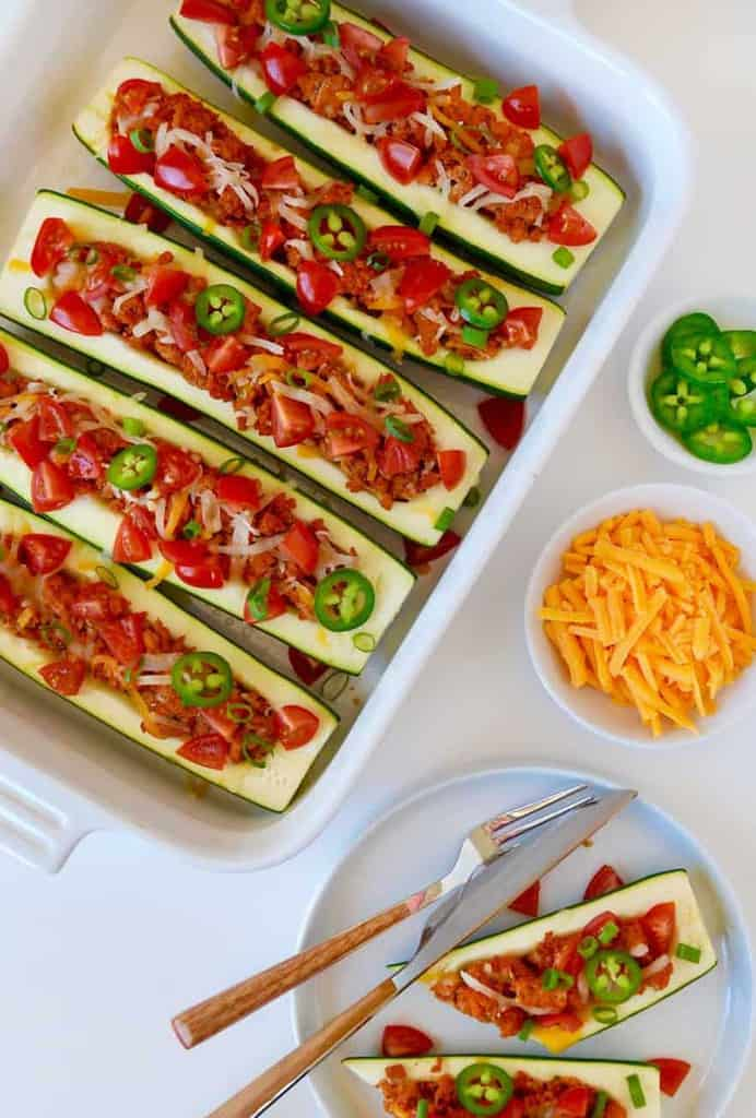 17 Healthy Taco Recipes | A roundup of 17 healthy, delicious taco recipes to enjoy on National Taco Day...or any day! Vegan, vegetarian, and meaty recipes for everyone.