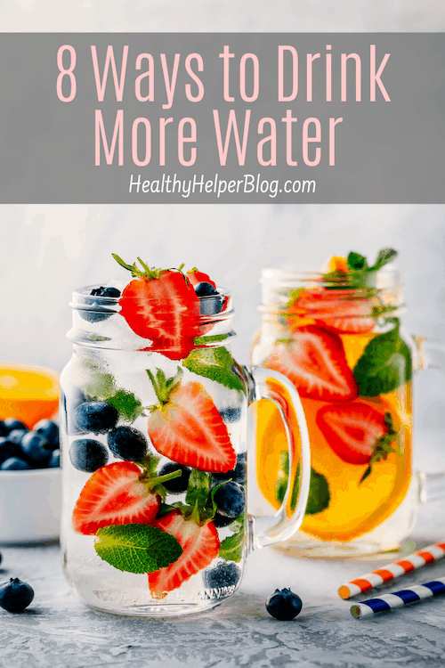 8 Ways to Drink More Water | A round-up of helpful tricks to boost your water intake and stay hydrated all day long!