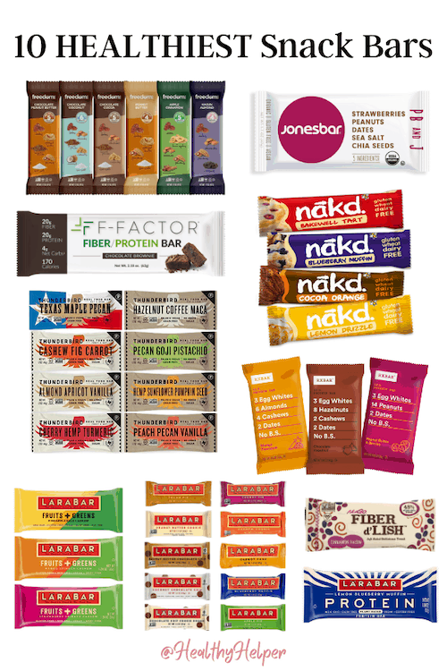The 10 Healthiest Snack Bars | The healthiest bars to snack on! Clean, whole food ingredients, low or no added sugar, and high in protein and/or fiber.
